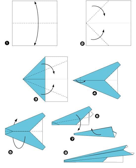 Как делать из бумаги самолет своими руками 197