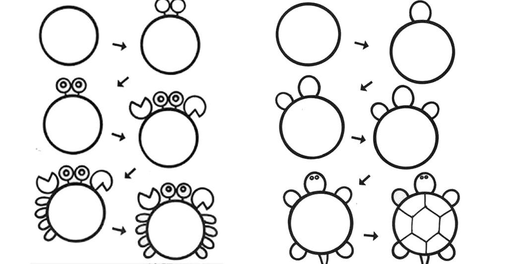 рисуем ребенку из кругов