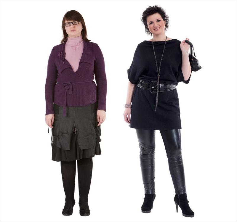женщина до и после стилиста