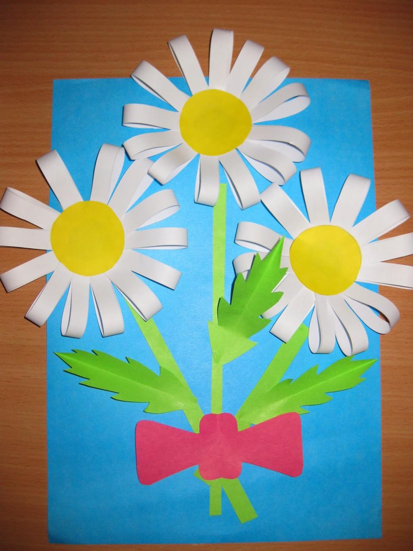 Поделки из бумаги для детей маме