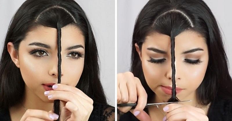 Как сделать челку самой себе фото