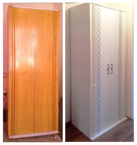 Как преобразить старый шкаф своими руками фото до и после картинки 25