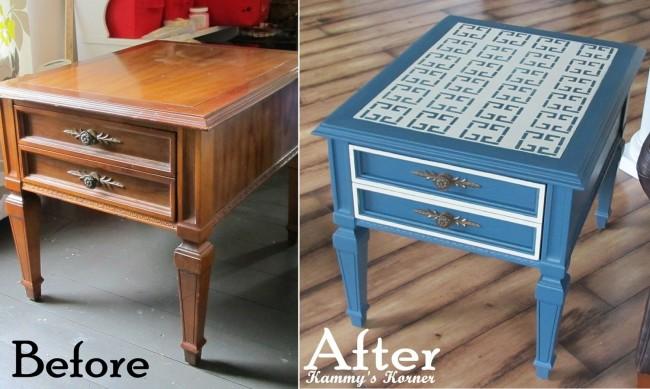 Как обновить стол своими руками фото до и после 18