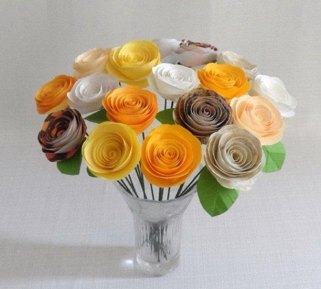 Поделки из бумаги своими руками розы из гофрированной бумаги