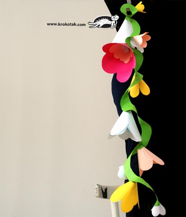 Как сделать гирлянду из цветов своими руками