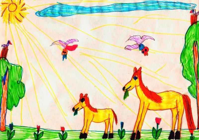 Детский рисунок для друга