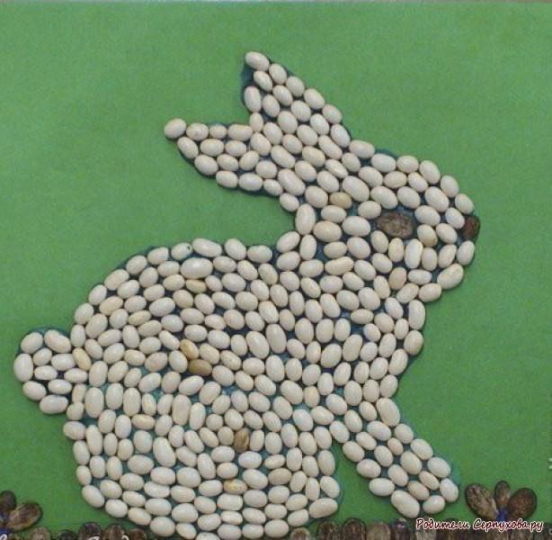 Поделки из круп своими руками в детском саду