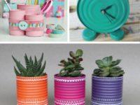 Идеи для творческих мам: потрясающие дизайнерские детали из жестяных банок