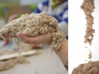 Как сделать кинетический песок своими руками за 5 минут