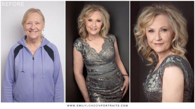 женщины до и после макияжа