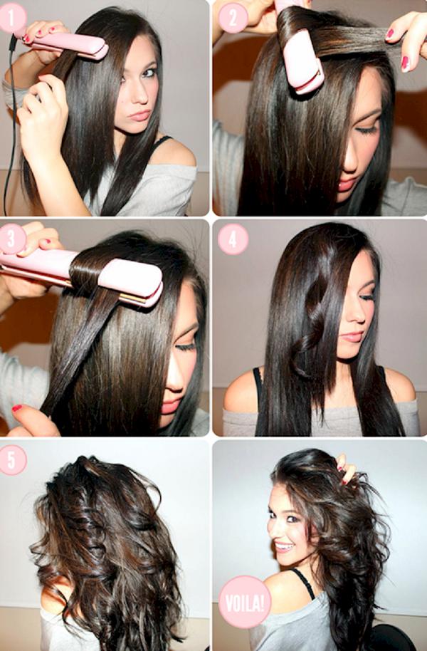 Волосы можно не только выравнивать утюжком, но и накручивать им красивые локоны.