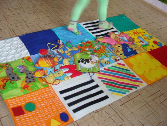 Массажные коврики для ребенка своими руками