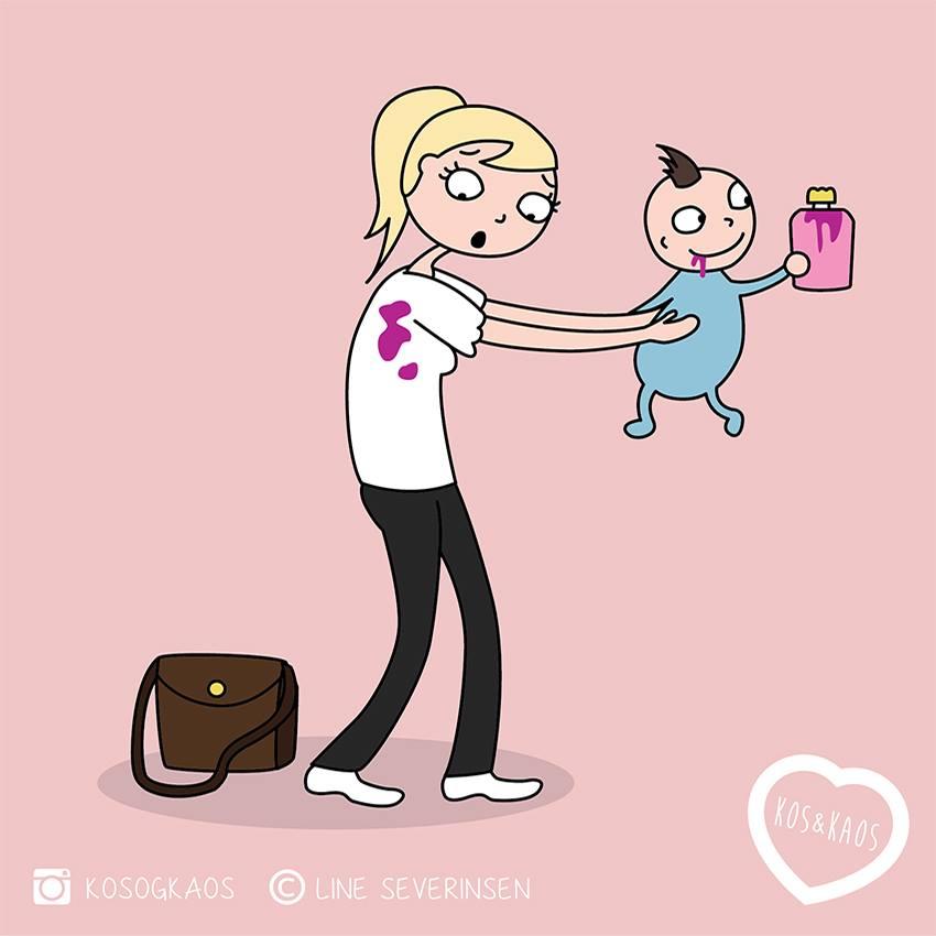 будни мамы в иллюстрациях