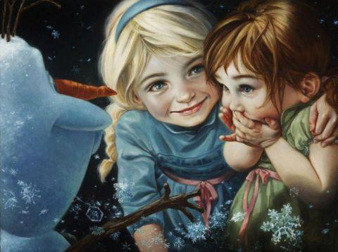 Если бы принцессы Диснея стали героинями классических картин
