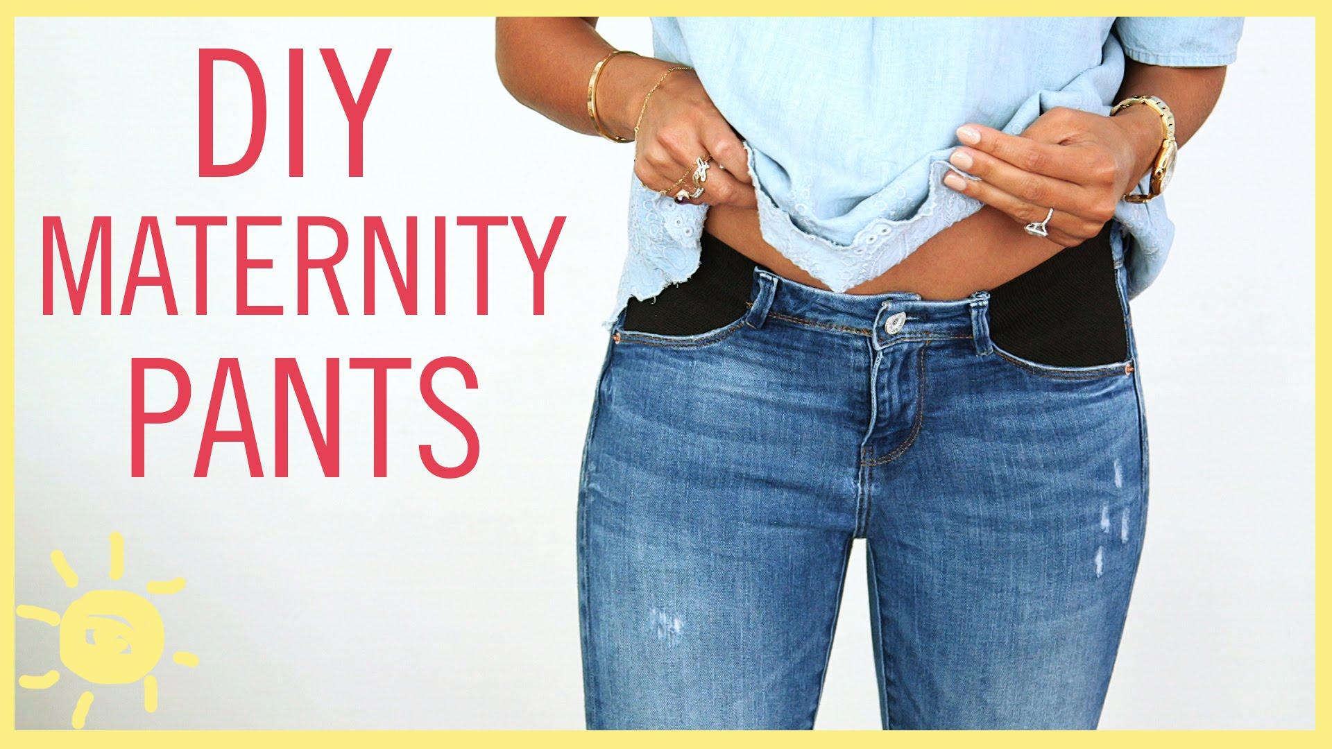 Как переделать штаны для беременных своими 47