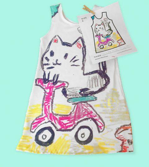 Теперь дети могут носить одежду, которую сами же и нарисовали