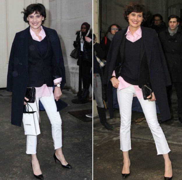 Базовая вещь гардероба парижанки - черный пиджак. Его можно носить хоть каждый день под любой лук
