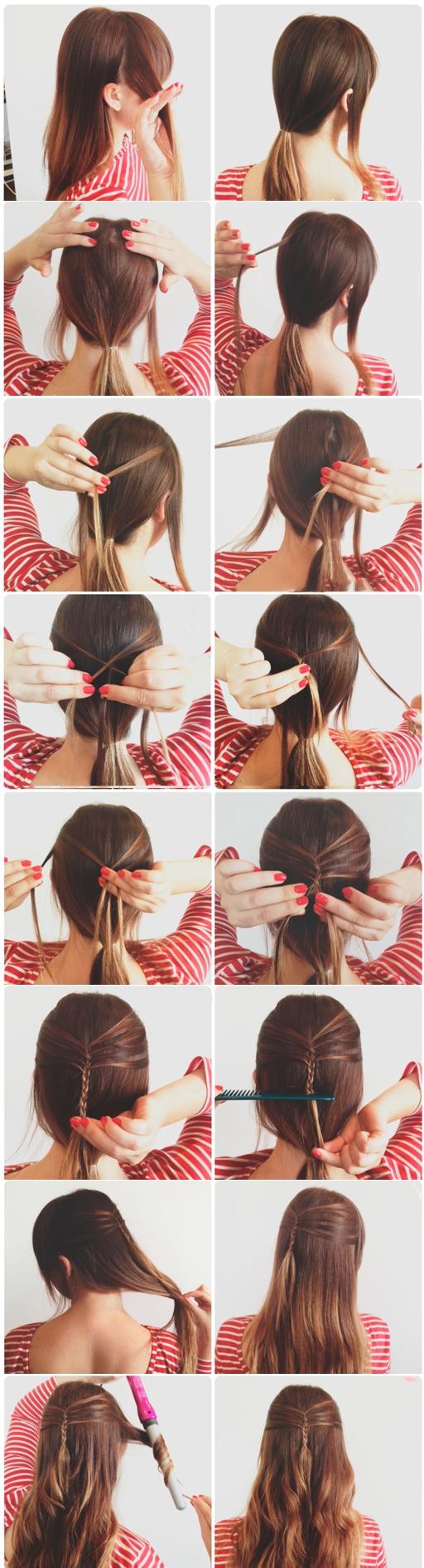 Лёгкие причёски для длинных волос распущенных волосах