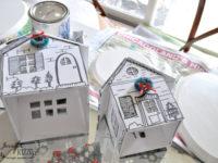 Делаем зимние картонные домики по шаблонам-заготовкам. Украшаем дом к зиме!