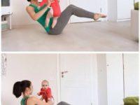 7 спортивных упражнений, которые можно выполнять с малышом