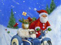Новогоднее настроение от забавных оленей и добродушного Санты