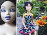 Мама учит девочек ценить естественную красоту, «умывая» кукол Барби и Братц