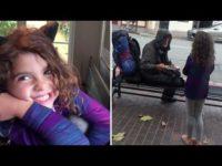 Маленькая девочка однажды отдала свой обед бездомному, и теперь поступает так всегда