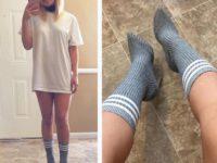 Новый странный тренд в мире женской моды: носки поверх лодочек