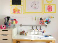 13 идей, которые помогут вам организовать творческий уголок для ребенка