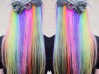 Новая фишка в окрашивании волос. Скрытая радуга