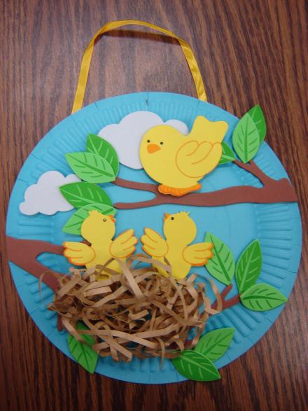 Сделать поделку птицу весеннею