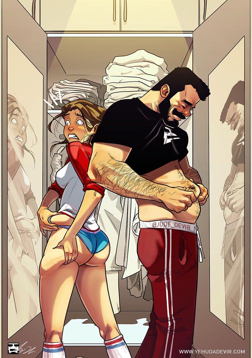 порно комиксы муж и жена № 597818  скачать
